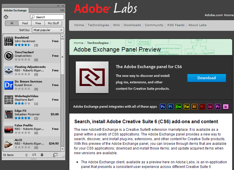 Get The Adobe Exchange Panel For Your Cs6 Apps Digital