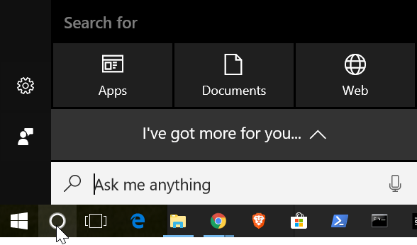 Windows 10 search