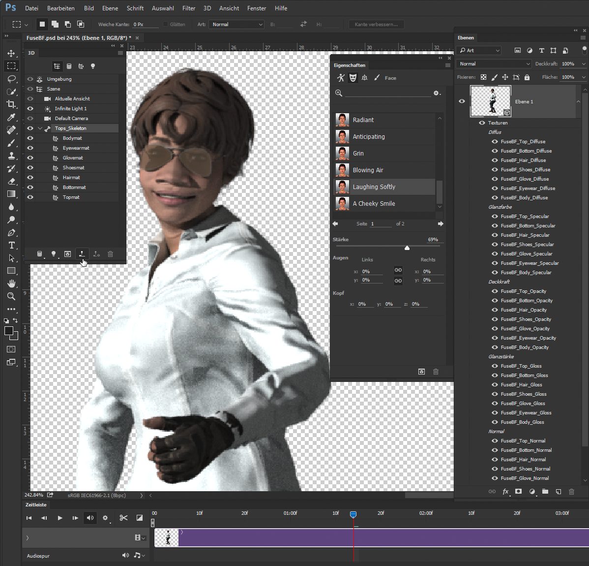 Adobe fuse how to get started in 3d character animation 3d model editor