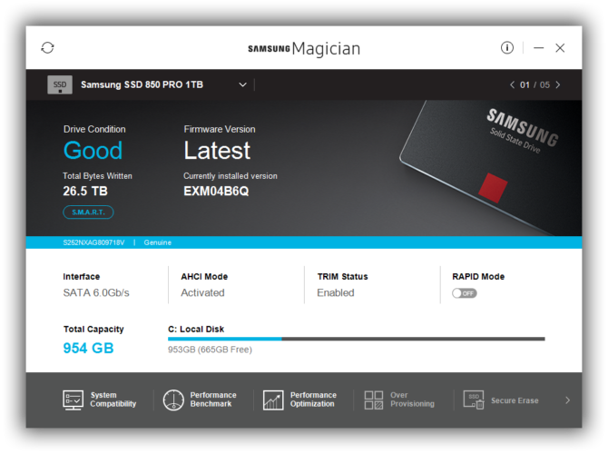 Samsung Magician SSD