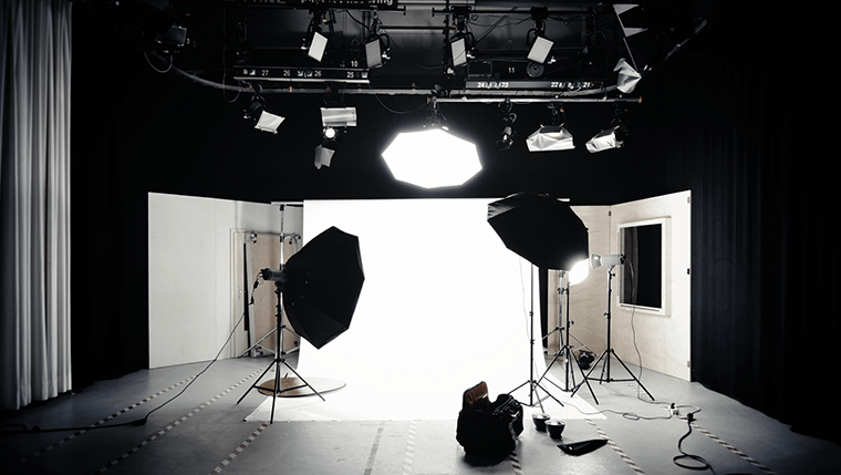 A typical studio setup