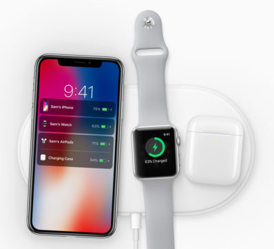 Apple iPhone X charging dock, pods. Source: Apple